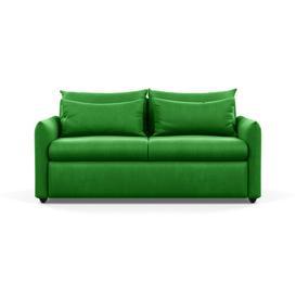 image-Heal's Pillow 3 Seater Sofa Varese Velvet Emerald Black Feet
