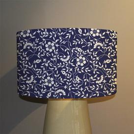 image-Flowers Cotton Drum Lamp Shade