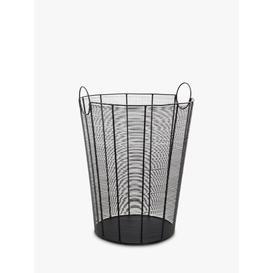 image-Ivyline Mesh Log Basket, Black