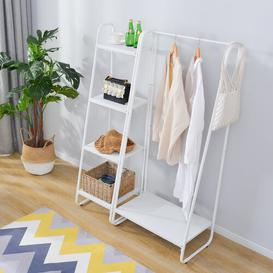 image-Pennie 104cm Wide Clothes Rack Williston Forge Finish: White