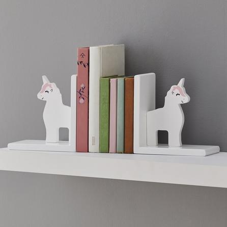 image-Unicorn Bookends White