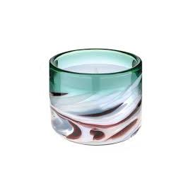 image-Glass Swirl Candle Emerald