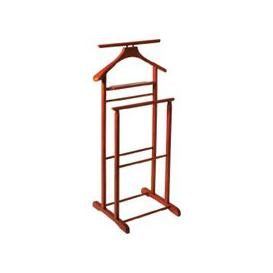 image-Dual Rail Wooden Valet Stand In Cherry