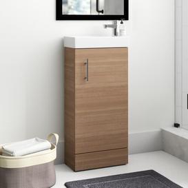 image-Darren 400mm Free-standing Vanity Unit Zipcode Design Base Finish: Oak