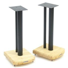 image-50cm Fixed Height Speaker Stand Symple Stuff Finish: Black/Natural Bamboo