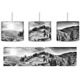 image-Stunning Landscape 1-Light Drum Pendant East Urban Home Shade colour: Black/White