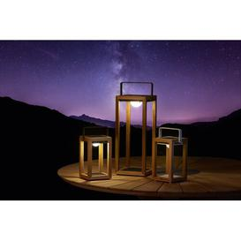 image-Marlando Solar Powered Outdoor Lantern Sol 72 Outdoor Finish: Brown/White, Size: 28cm H x 15cm W x 14cm D