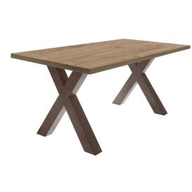 image-Upper Strode Dining Table Brayden Studio Frame Colour: Brown, Tabletop Colour: Cream, Size: 75cm H x 160cm L x 90cm W