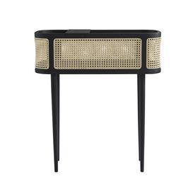 image-Hako Cane Bar - Console Table, Burned Black