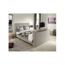 image-Vizzini Pneumatic Fabric Double TV Bed In Light Grey