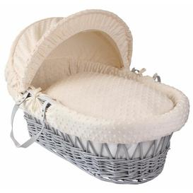 image-Dimple Moses Basket Clair De Lune Colour: Cream