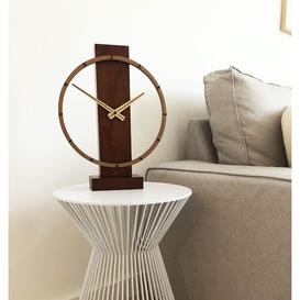 image-Carl Small Table Clock NeXtime Colour: Brown