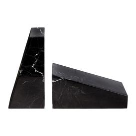 image-Stoned - Marble Book Ends - Black