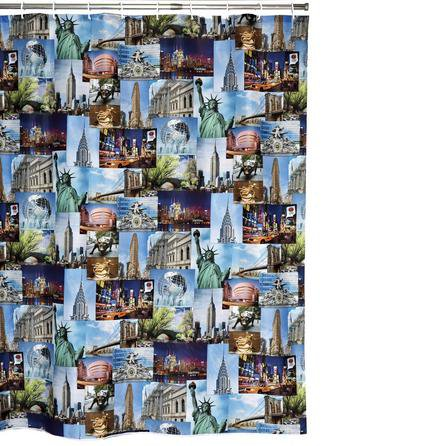 image-NYC Extra Long Shower Curtain MultiColoured
