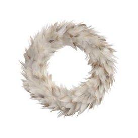 image-Libra Feather Grey Large Wreath - Xmas-19