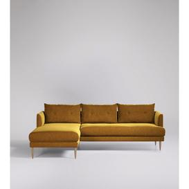 image-Swoon Kalmar Corner Sofa in Turmeric Smart Wool With Light Feet