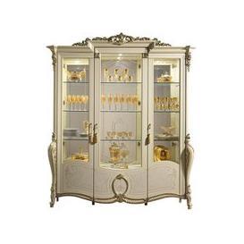 image-Arredoclassic Tiziano 3 Door Glass Display Cabinet