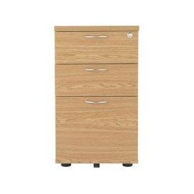 image-Progress Desk High Pedestal, 40wx80dx73h (cm), Nova Oak, Free Standard Delivery
