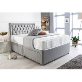 image-Mccloud Bumper Suede Divan Bed Willa Arlo Interiors Size: Super King (6'), Storage Type: 2 Drawers Same Side
