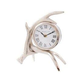 image-Libra Antler Nickel Mantel Clock