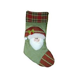 image-Santa Green Christmas Stocking (51cm x 26cm)