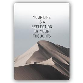 image-'Cover Your Life' - Typography Print on Metal Happy Larry