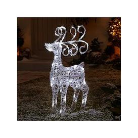 image-Spun Acrylic Light Up Standing Reindeer Outdoor Christmas Decoration