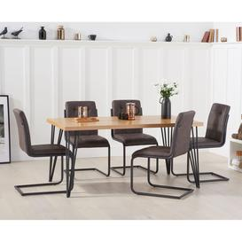 image-Mark Harris Industrial Furniture Reviro Dining Table 160cm & Archie Set