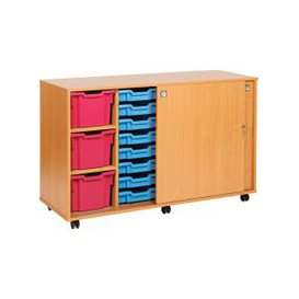 image-23 Tray Storage Unit With Sliding Door, Kiwi Jelly, Free Standard Delivery