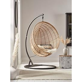 image-NEW Flat Rattan Hanging Chair