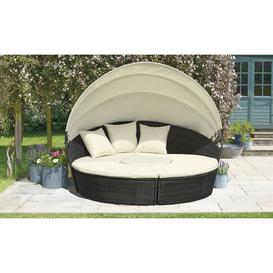 image-Freemansburg Garden Daybed with Cushions Sol 72 Outdoor Colour (Frame): Black, Cover included: No