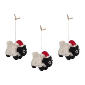 image-Felt So Good - Christmas Sheep Tree Decoration - Set of 3