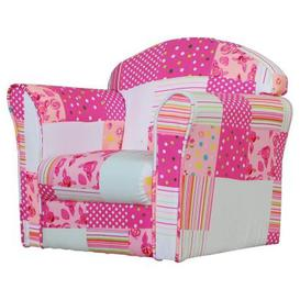 image-Patchwork Armchair Pink