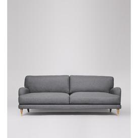 image-Swoon Charlbury Three-Seater Sofa in Pepper Smart Wool With Light Feet