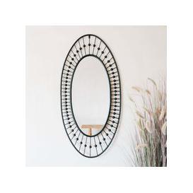 image-Black Pearl Oval Mirror