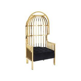 image-Fafnir Cage Design Occasional Chair In Gold