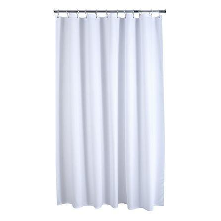 image-Waffle White XL Shower Curtain White