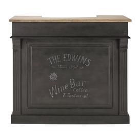image-Charcoal Grey 4 drawers Bar Unit