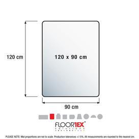 image-Anti-Microbial Straight Edge Chair Mat Floortex Size: 0.26cm H x 90cm W x 120cm D