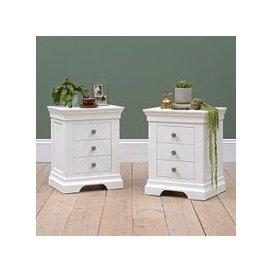 image-Chantilly White Set of 2 Bedsides
