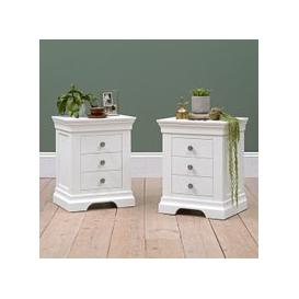 image-Chantilly Warm White Set of 2 Bedsides