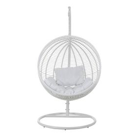 image-Makai Hanging Chair with Stand Bay Isle Home Colour: White