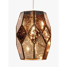 image-John Lewis & Partners Romy Easy-to-Fit Mirrored Glass Ceiling Shade, Gold