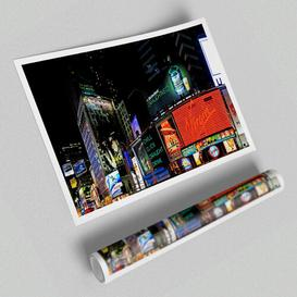 image-'Tokyo City Night Lights Architecture' - Graphic Art on Paper East Urban Home Size: 59.4 cm H x 84.1cm W