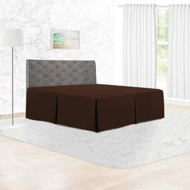image-144 Thread Count Bed Valance Adam Home Size: Single, Colour: Chocolate