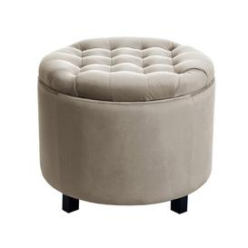 image-Disar Storage Ottoman BelleFierté Upholstery Colour: Taupe/Mink