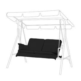 image-Bench Cushion Sol 72 Outdoor Colour: Black