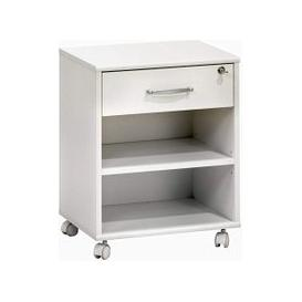 image-Marconie Wooden Office Cabinet In White Finish