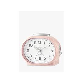 image-Acctim Lila Silent Sweep Analogue Alarm Clock, Nougat