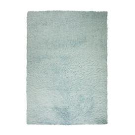 image-Riviera Sparkle Shaggy Rug Blue and Grey
